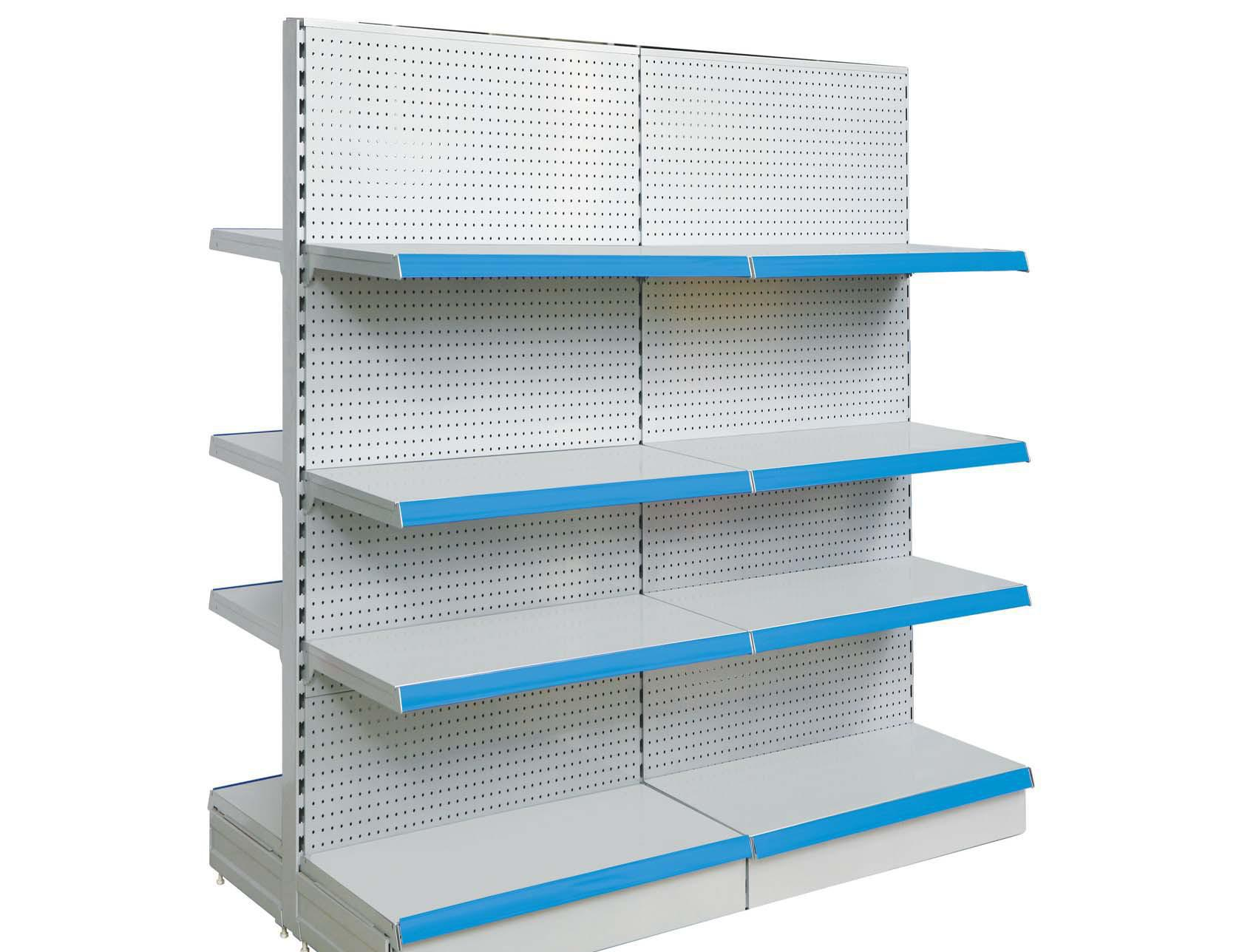 Perforated back panel shelf 8